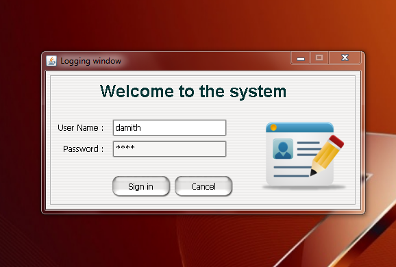 Create logging window using Java and MySql (1/3)