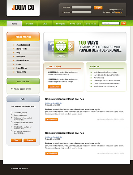Joomla Web Templates. website templates blog web design joomla ...